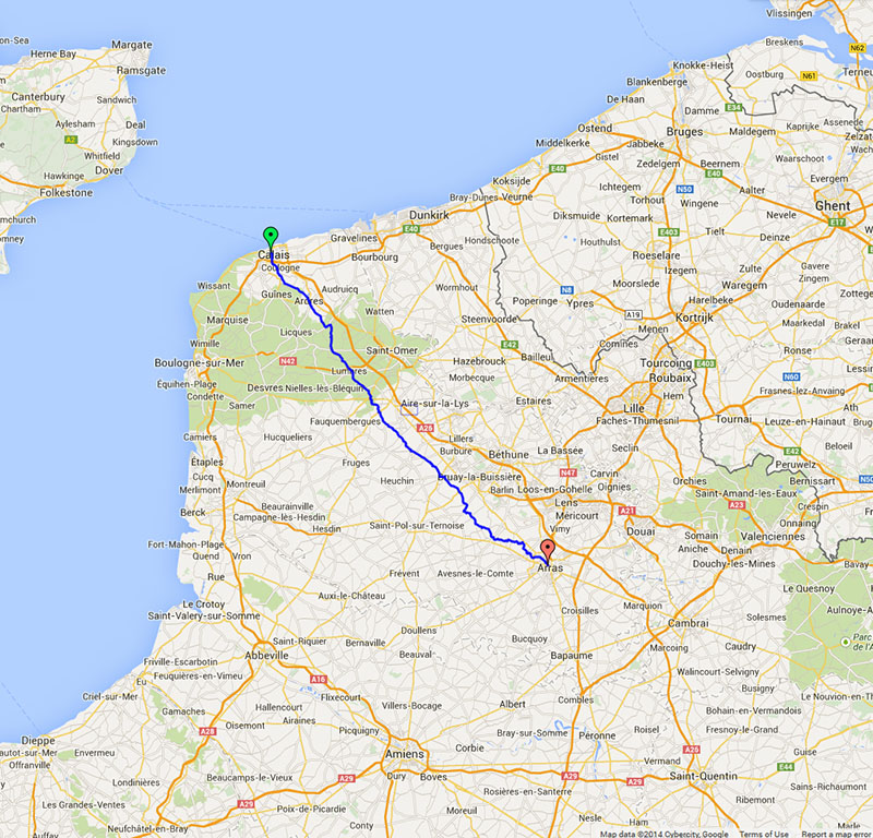 London to Paris 2014 Day 2 Calais to Arras Tales From My Bike